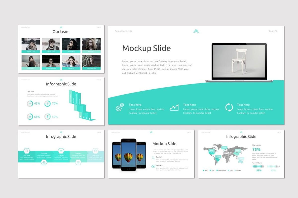 Amous - Powerpoint Template, Slide 5, 05937, Presentation Templates — PoweredTemplate.com