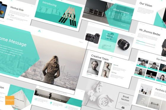 Presentation Templates: Amous - Google Slides Template #05938