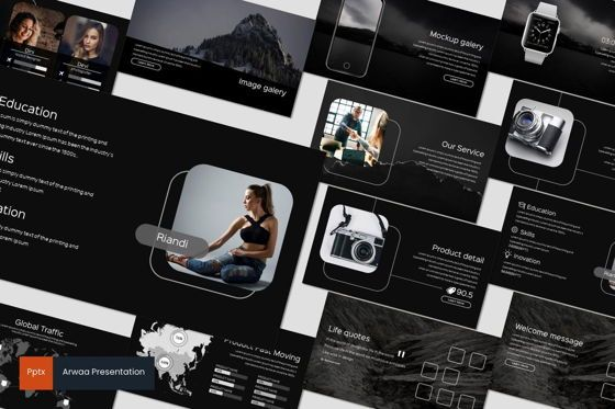 Presentation Templates: Arwaa - Powerpoint Template #05940