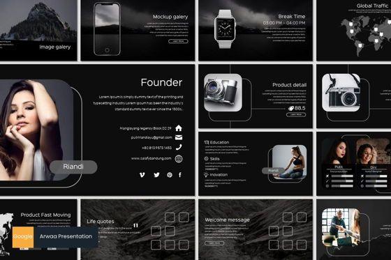 Presentation Templates: Arwaa - Google Slides Template #05942