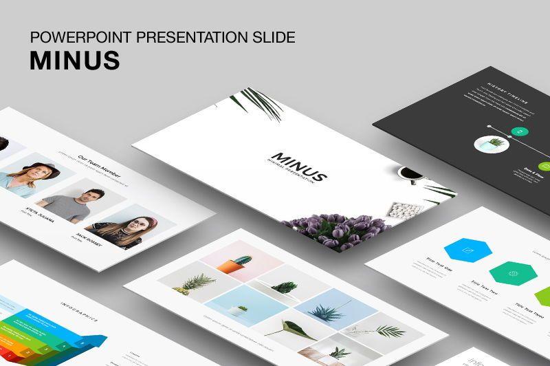 Minus - Powerpoint Template, 05943, Presentation Templates — PoweredTemplate.com