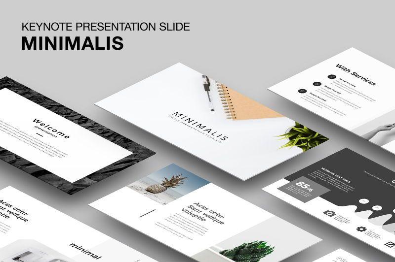 Minimalis Keynote Template, 05945, Presentation Templates — PoweredTemplate.com