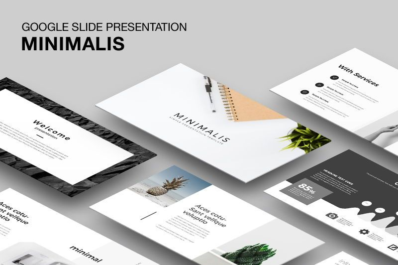 Minimalis Google Slide Presentation, 05946, Presentation Templates — PoweredTemplate.com