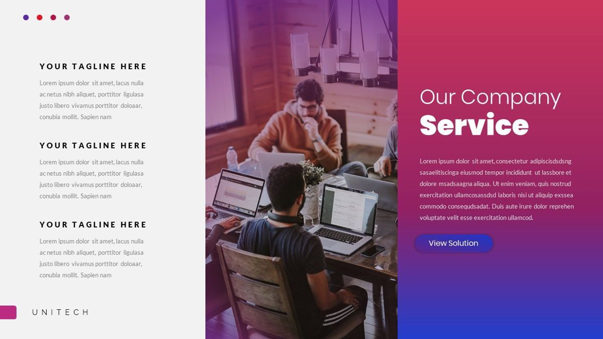 Unitech - Creative Business Powerpoint Template, Slide 16, 05948, Business Models — PoweredTemplate.com