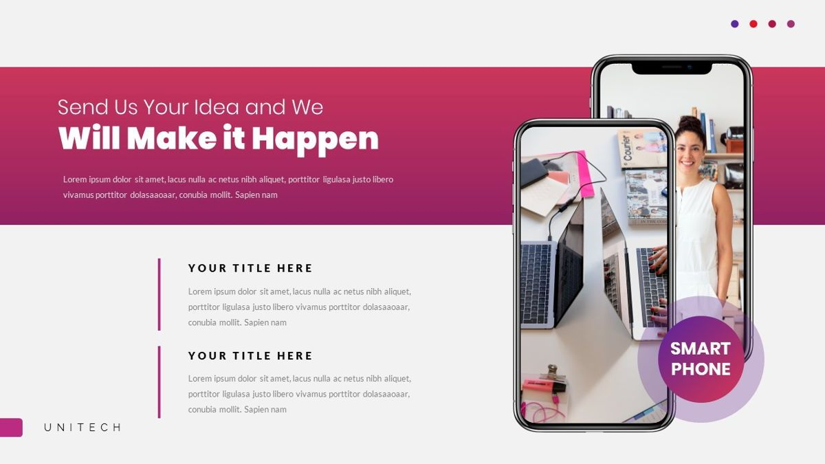Unitech - Creative Business Powerpoint Template, Slide 26, 05948, Business Models — PoweredTemplate.com