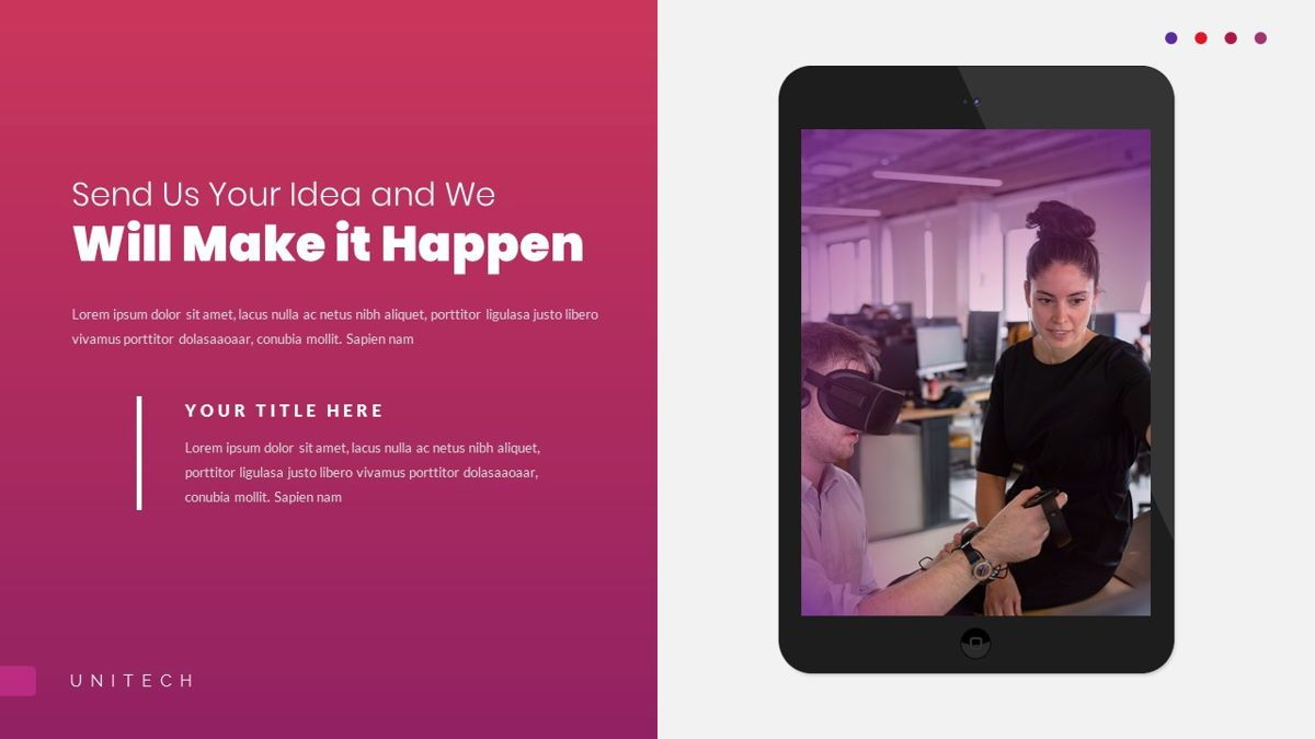 Unitech - Creative Business Powerpoint Template, Slide 28, 05948, Business Models — PoweredTemplate.com