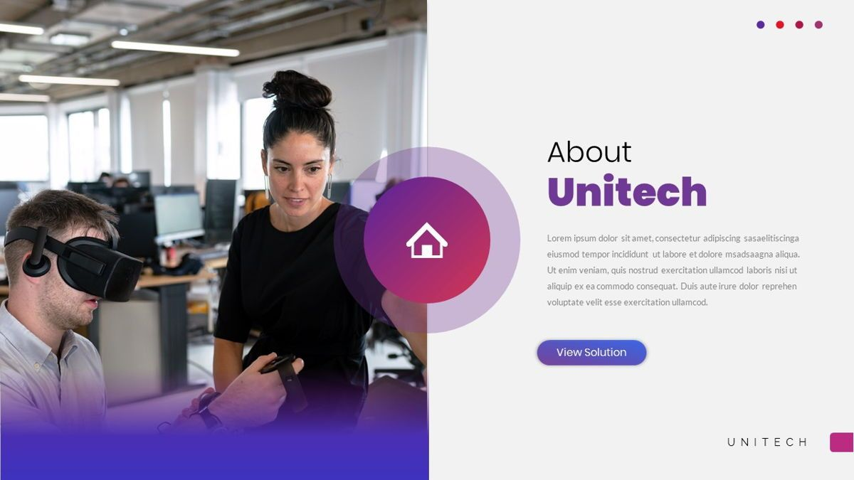 Unitech - Creative Business Powerpoint Template, Slide 5, 05948, Business Models — PoweredTemplate.com