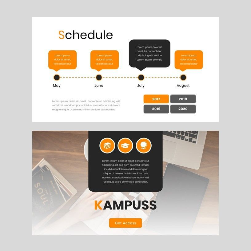 Kampuss - Google Slides Template, Slide 9, 05952, Presentation Templates — PoweredTemplate.com