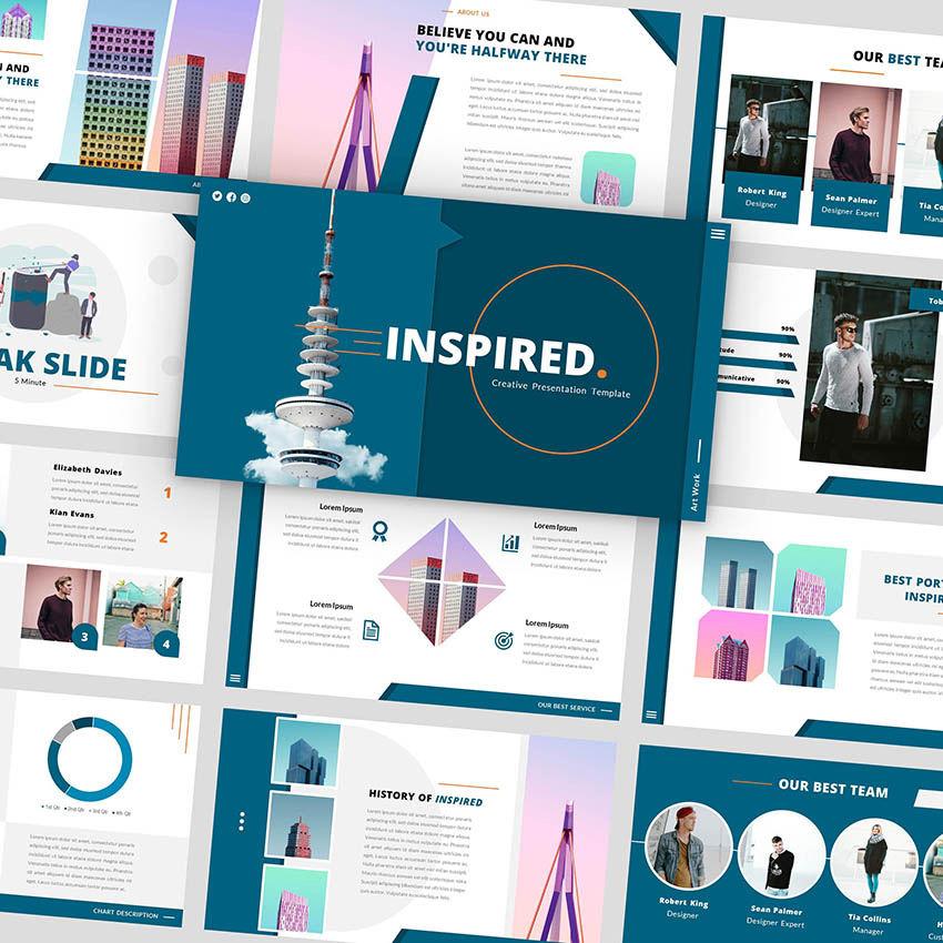 Inspired - Google Slides Template, 05953, Presentation Templates — PoweredTemplate.com