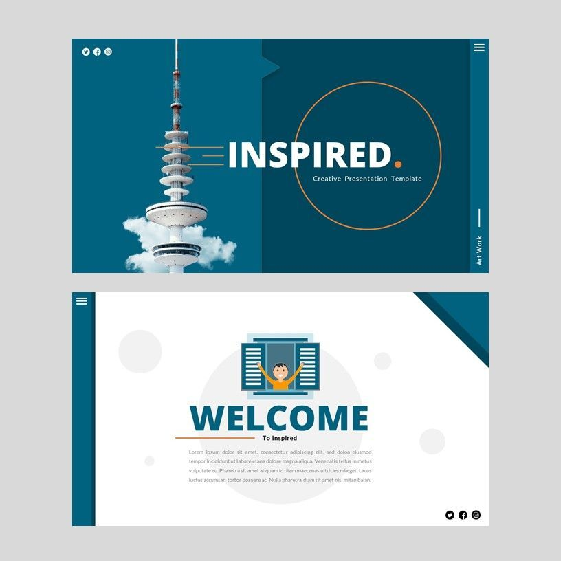 Inspired - Google Slides Template, Slide 2, 05953, Presentation Templates — PoweredTemplate.com