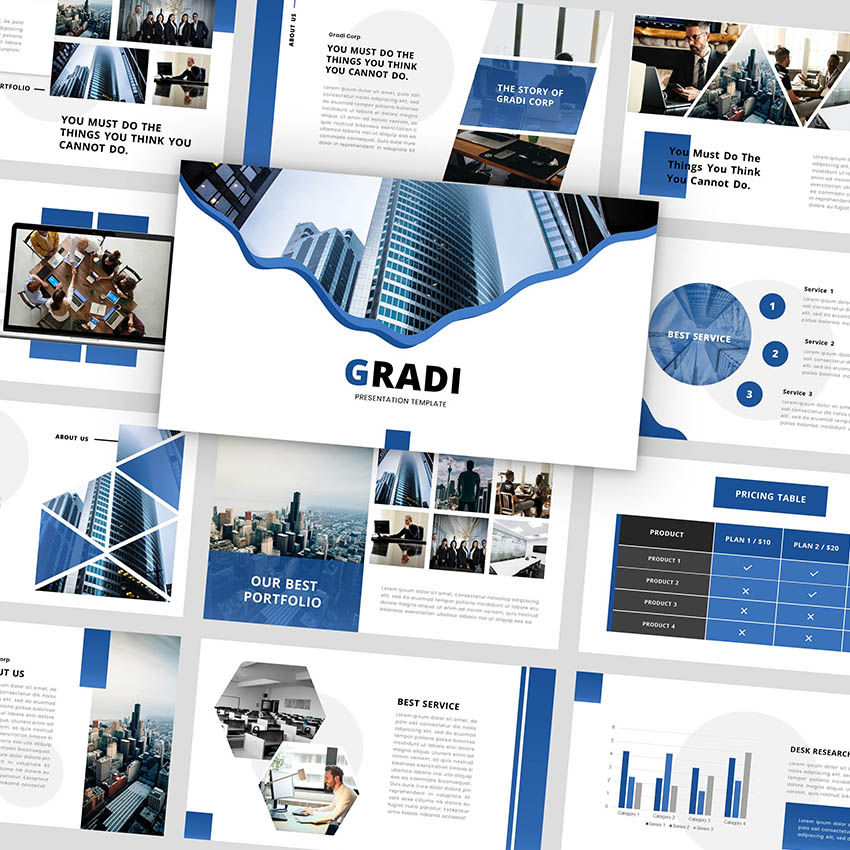 Gradi - Google Slides Template, 05955, Presentation Templates — PoweredTemplate.com