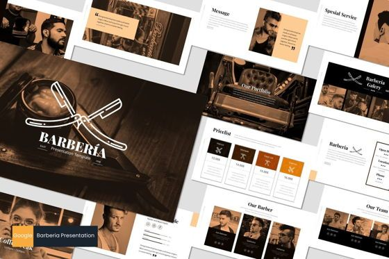 Presentation Templates: Barberia - Google Slides Template #05957