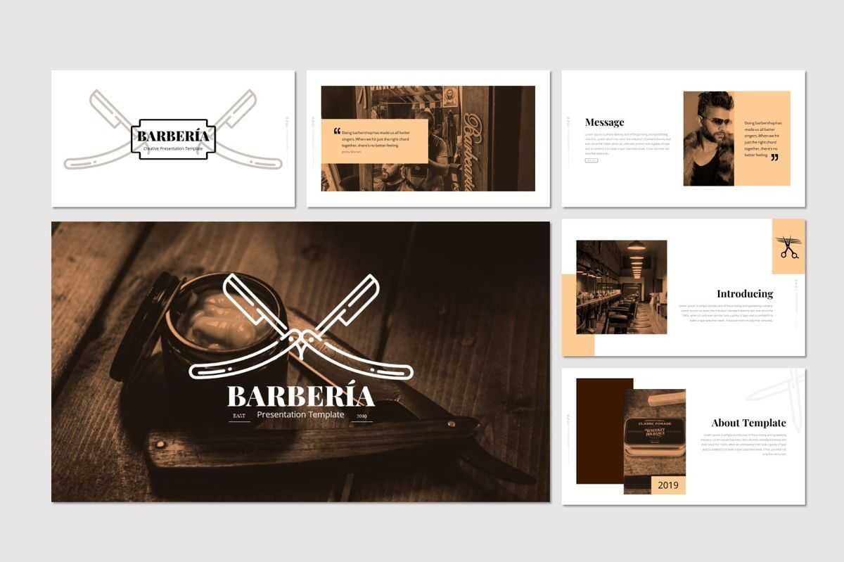 Barberia - Keynote Template, Slide 2, 05958, Presentation Templates — PoweredTemplate.com