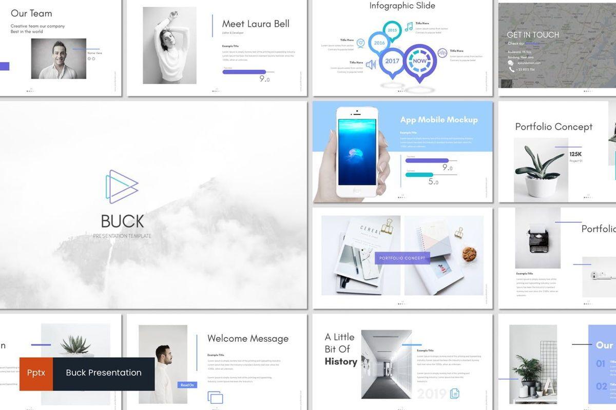 Buck - Powerpoint Template, 05959, Presentation Templates — PoweredTemplate.com