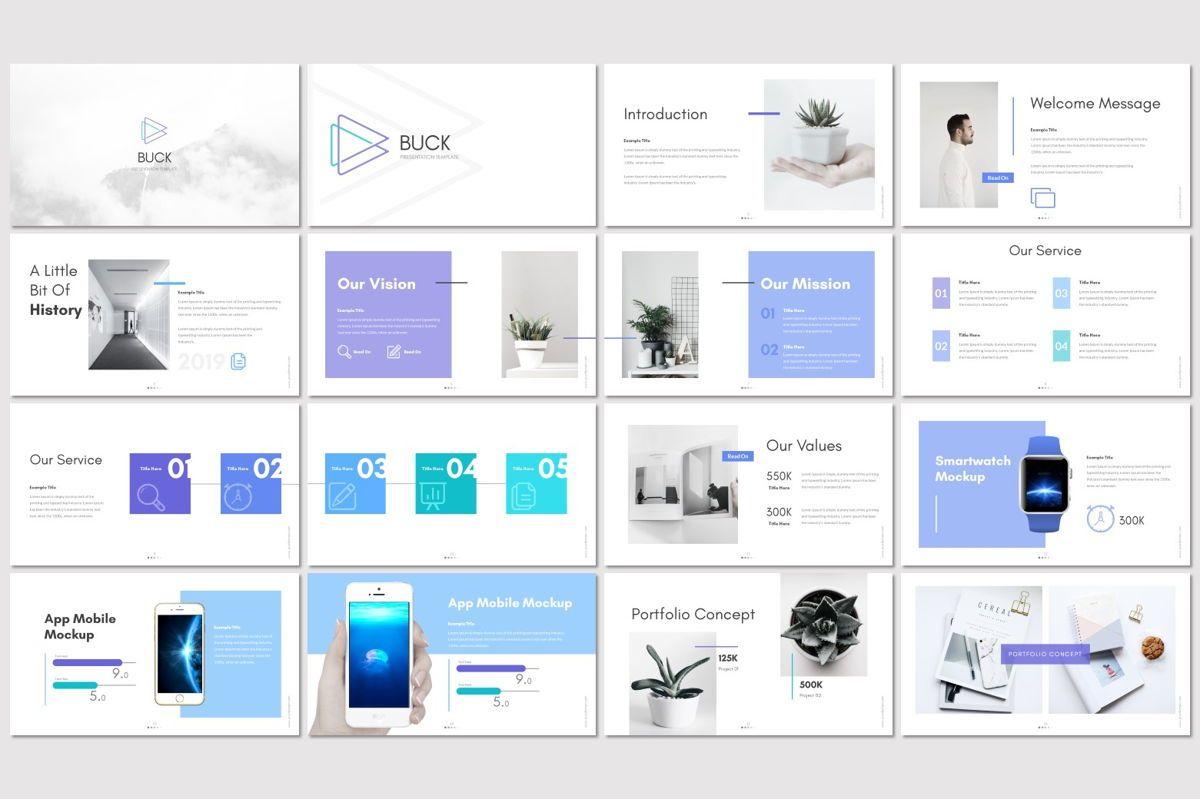 Buck - Powerpoint Template, Slide 2, 05959, Presentation Templates — PoweredTemplate.com