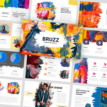 Presentation Templates: Bruzz - Creative Google Slides Template #05965
