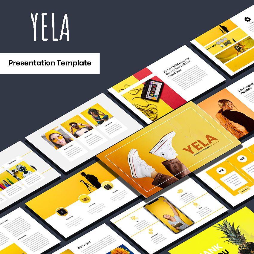 Yela - Creative Google Slide Template, 05970, Presentation Templates — PoweredTemplate.com