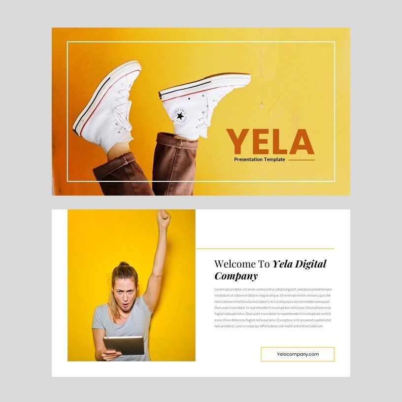 Yela - Creative Google Slide Template, Slide 2, 05970, Presentation Templates — PoweredTemplate.com