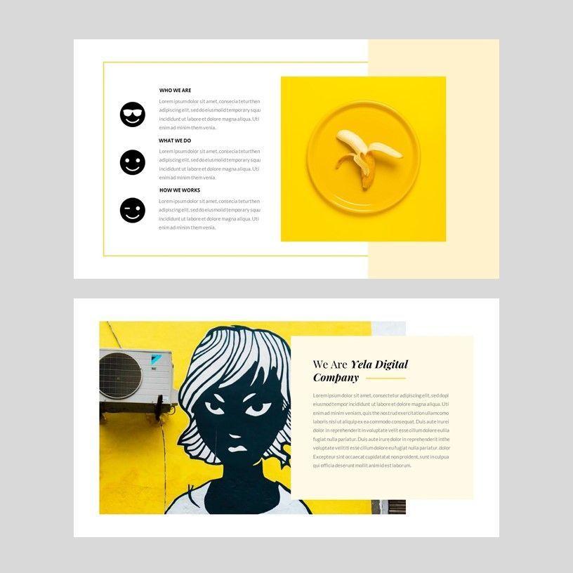 Yela - Creative Google Slide Template, Slide 3, 05970, Presentation Templates — PoweredTemplate.com