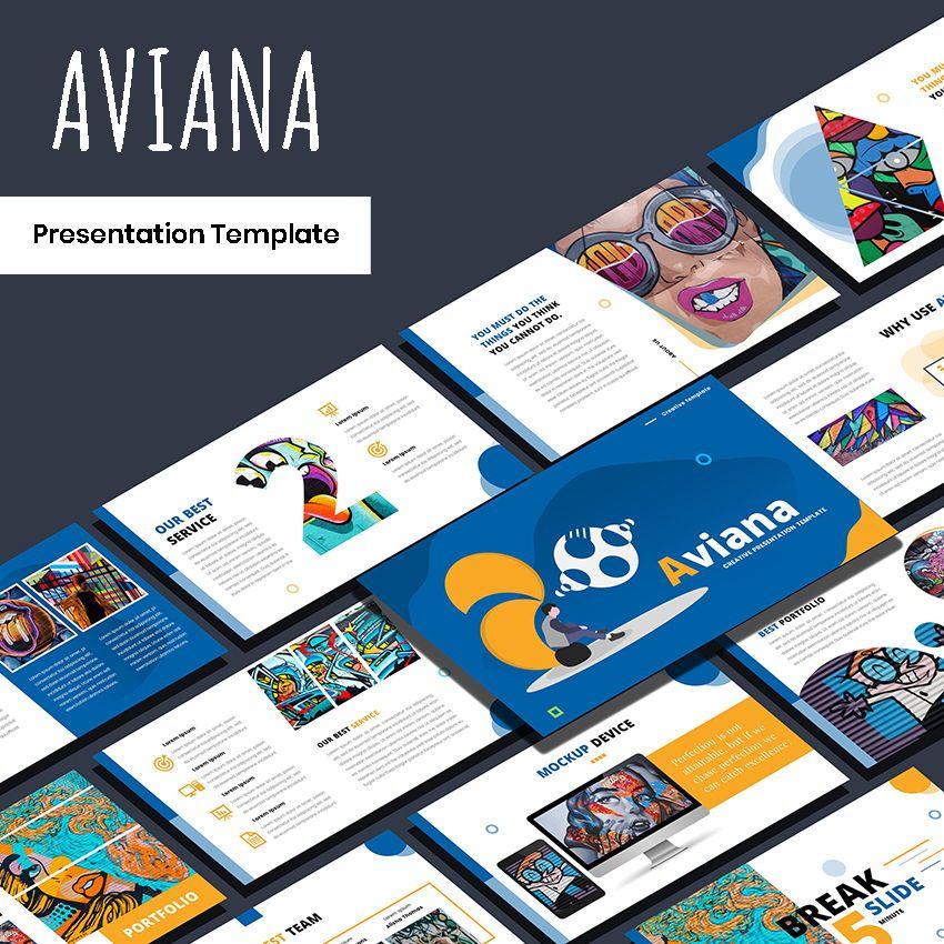 Aviana - Creative Google Slide Template, 05975, Presentation Templates — PoweredTemplate.com