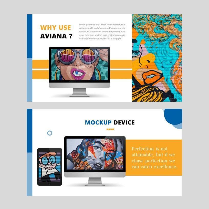 Aviana - Creative Google Slide Template, Slide 10, 05975, Presentation Templates — PoweredTemplate.com
