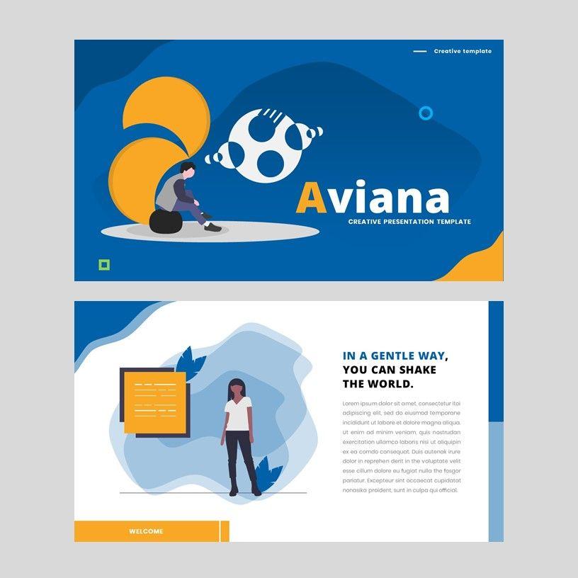 Aviana - Creative Google Slide Template, Slide 2, 05975, Presentation Templates — PoweredTemplate.com