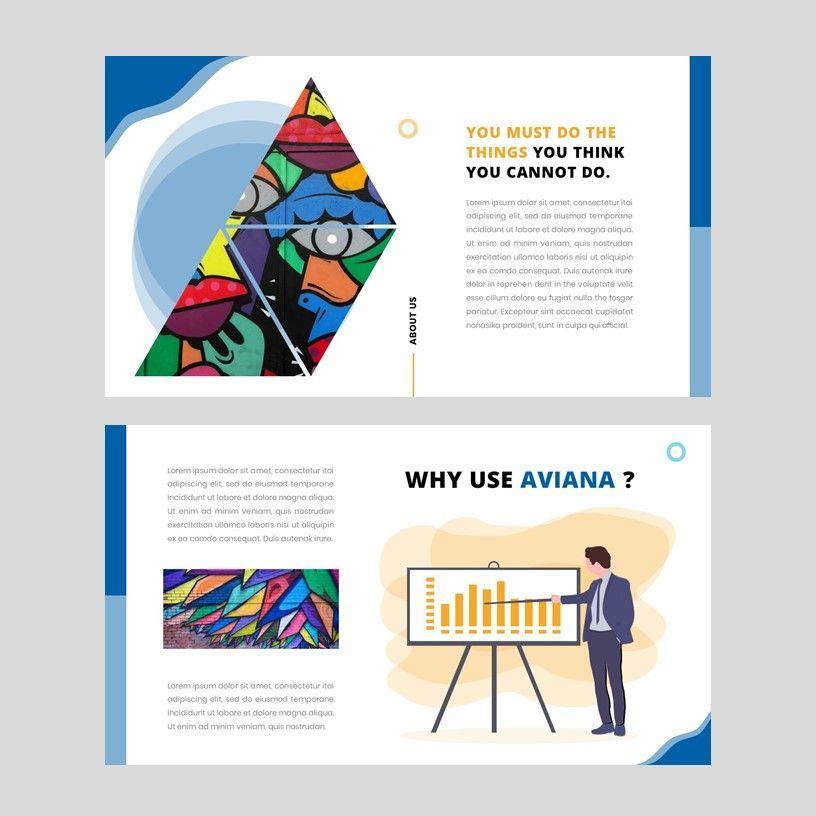 Aviana - Creative Google Slide Template, Slide 4, 05975, Presentation Templates — PoweredTemplate.com