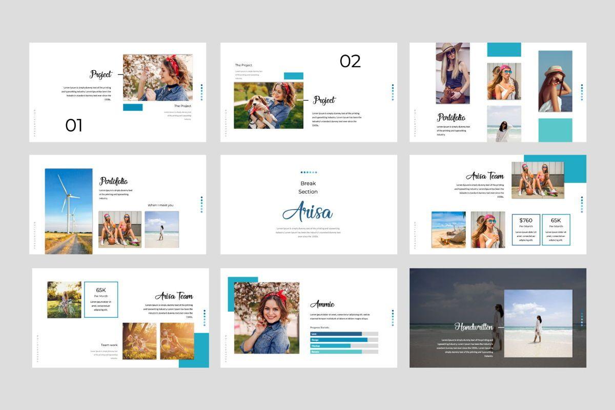 Arisa Powerpoint Template, Slide 3, 05976, Presentation Templates — PoweredTemplate.com
