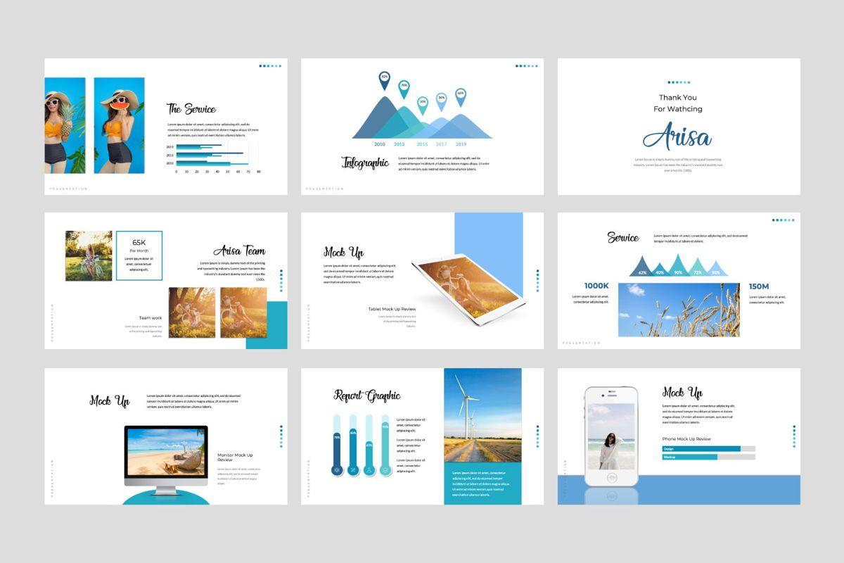 Arisa Powerpoint Template, Slide 4, 05976, Presentation Templates — PoweredTemplate.com
