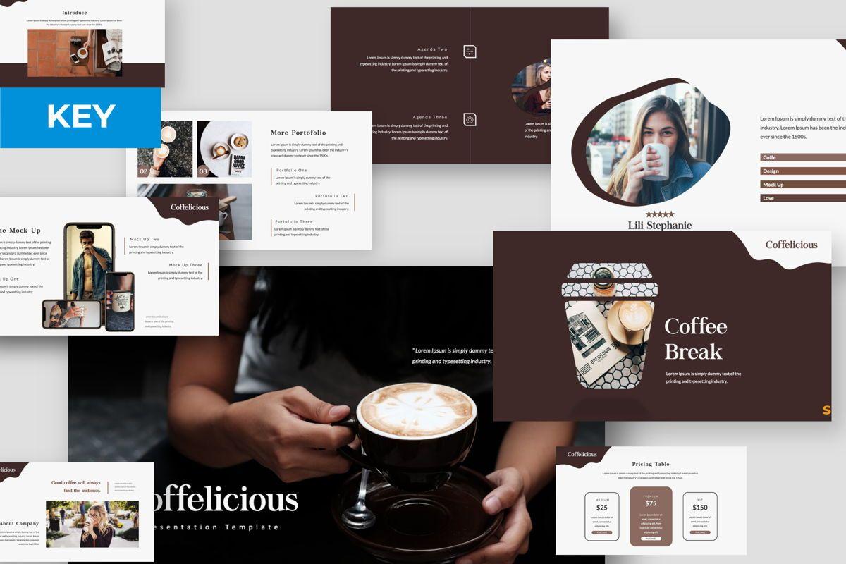 Coffelicious Keynote, 05977, Presentation Templates — PoweredTemplate.com