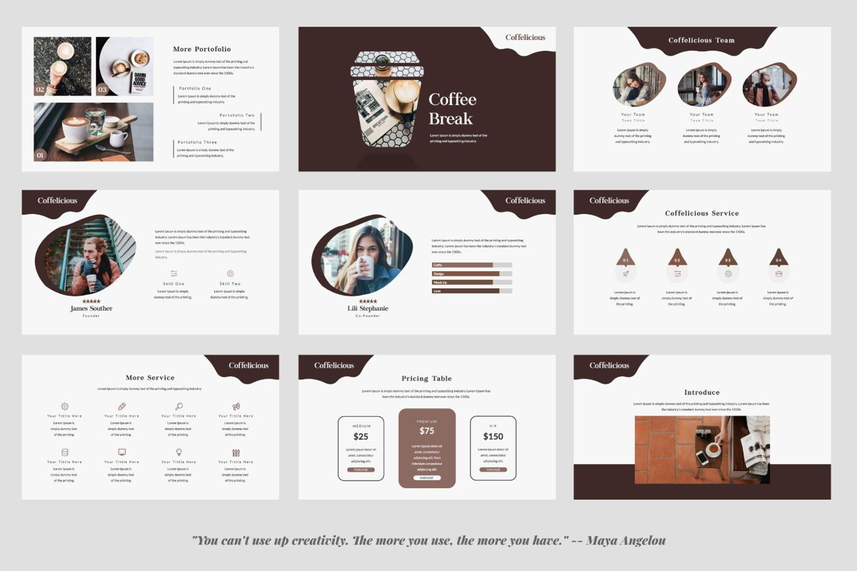 Coffelicious Keynote, Slide 3, 05977, Presentation Templates — PoweredTemplate.com