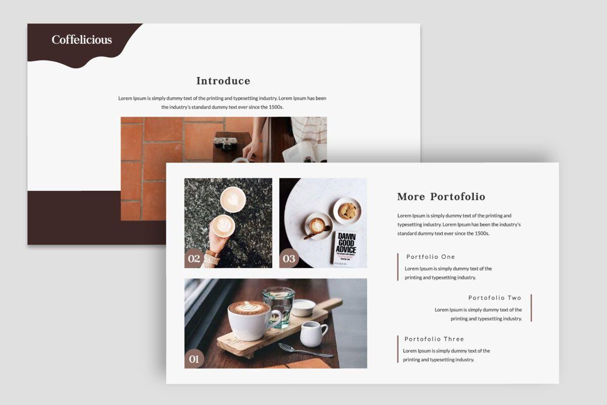 Coffelicious Keynote, Slide 5, 05977, Presentation Templates — PoweredTemplate.com