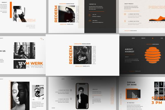 Presentation Templates: Redeem Creative Google Slide #05983