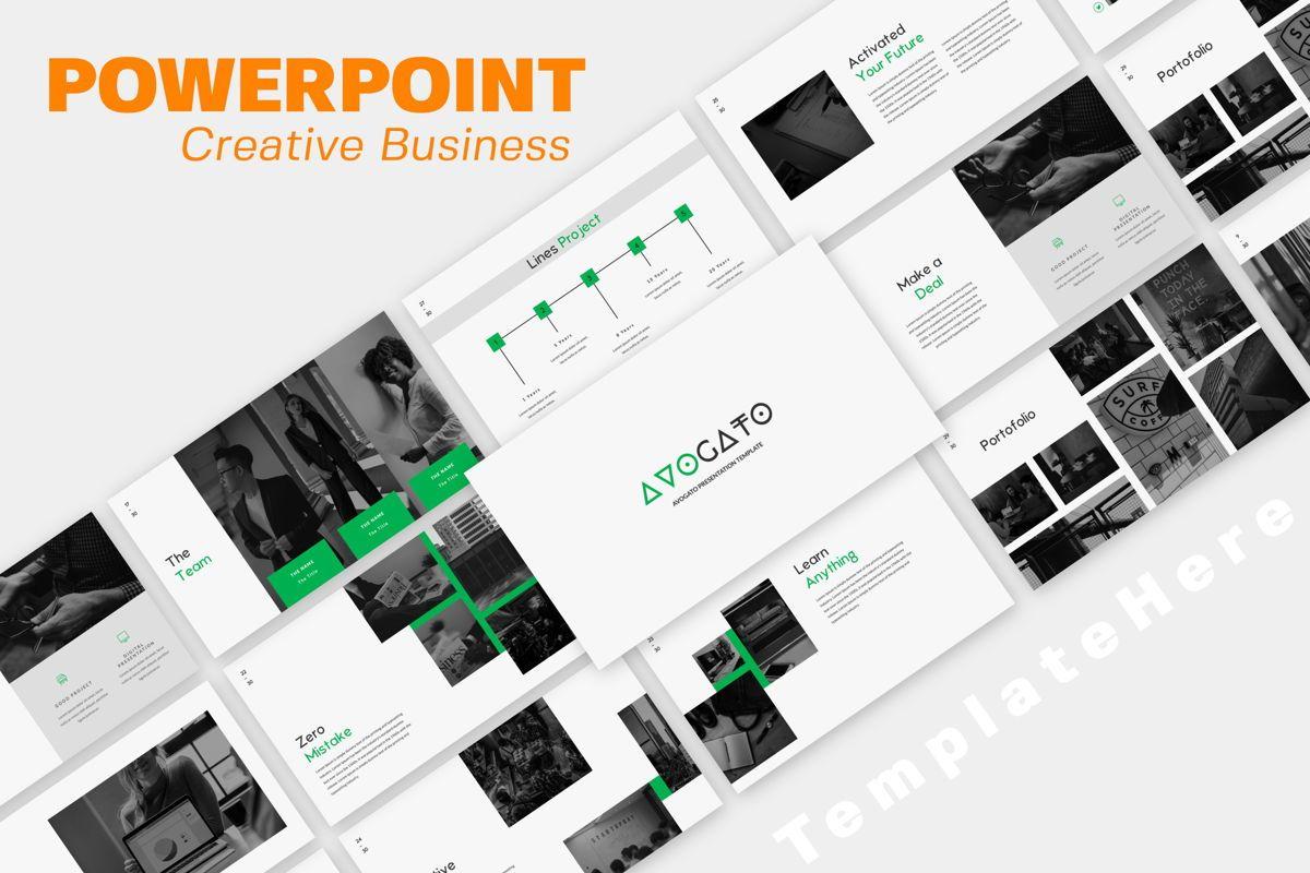 Avogato Creative Powerpoint, 05984, Presentation Templates — PoweredTemplate.com