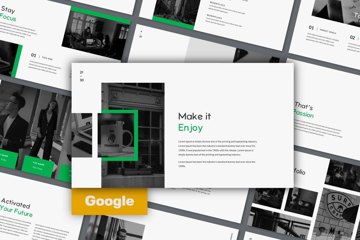 Avogato Creative Google Slide, 05986, Presentation Templates — PoweredTemplate.com