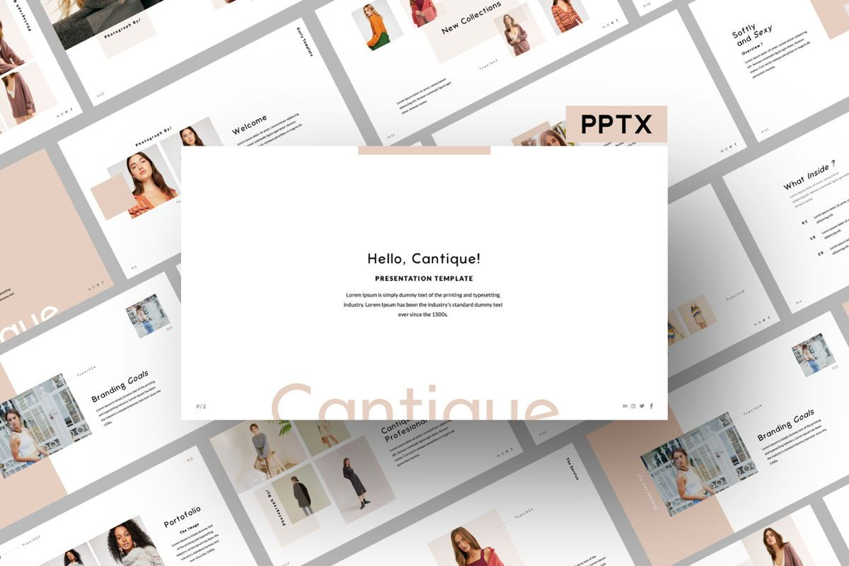 Cantique Brand Powerpoint, 05987, Presentation Templates — PoweredTemplate.com