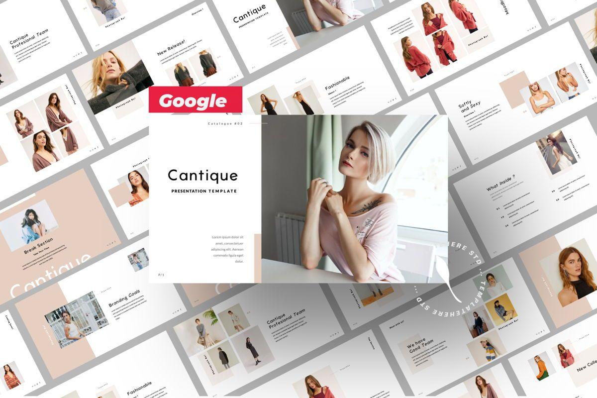 Cantique Brand Google Slide, 05989, Presentation Templates — PoweredTemplate.com
