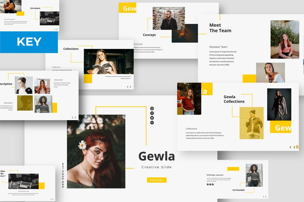 Gewla Creative Keynote, 05991, Presentation Templates — PoweredTemplate.com
