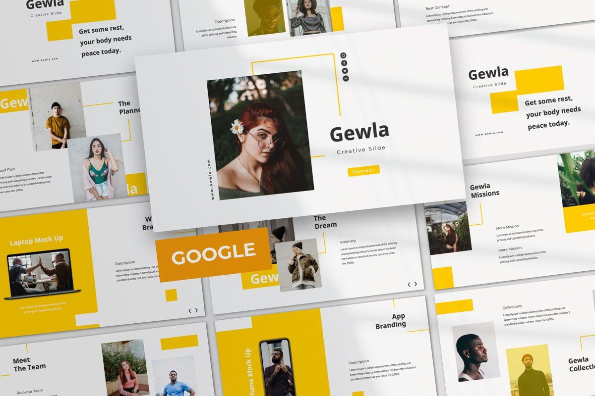 Gewla Creative Google Slide, 05992, Presentation Templates — PoweredTemplate.com