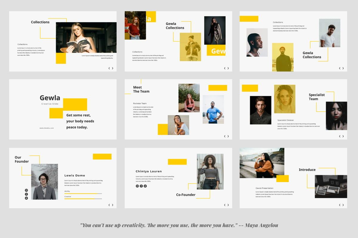 Gewla Creative Google Slide, Slide 3, 05992, Presentation Templates — PoweredTemplate.com