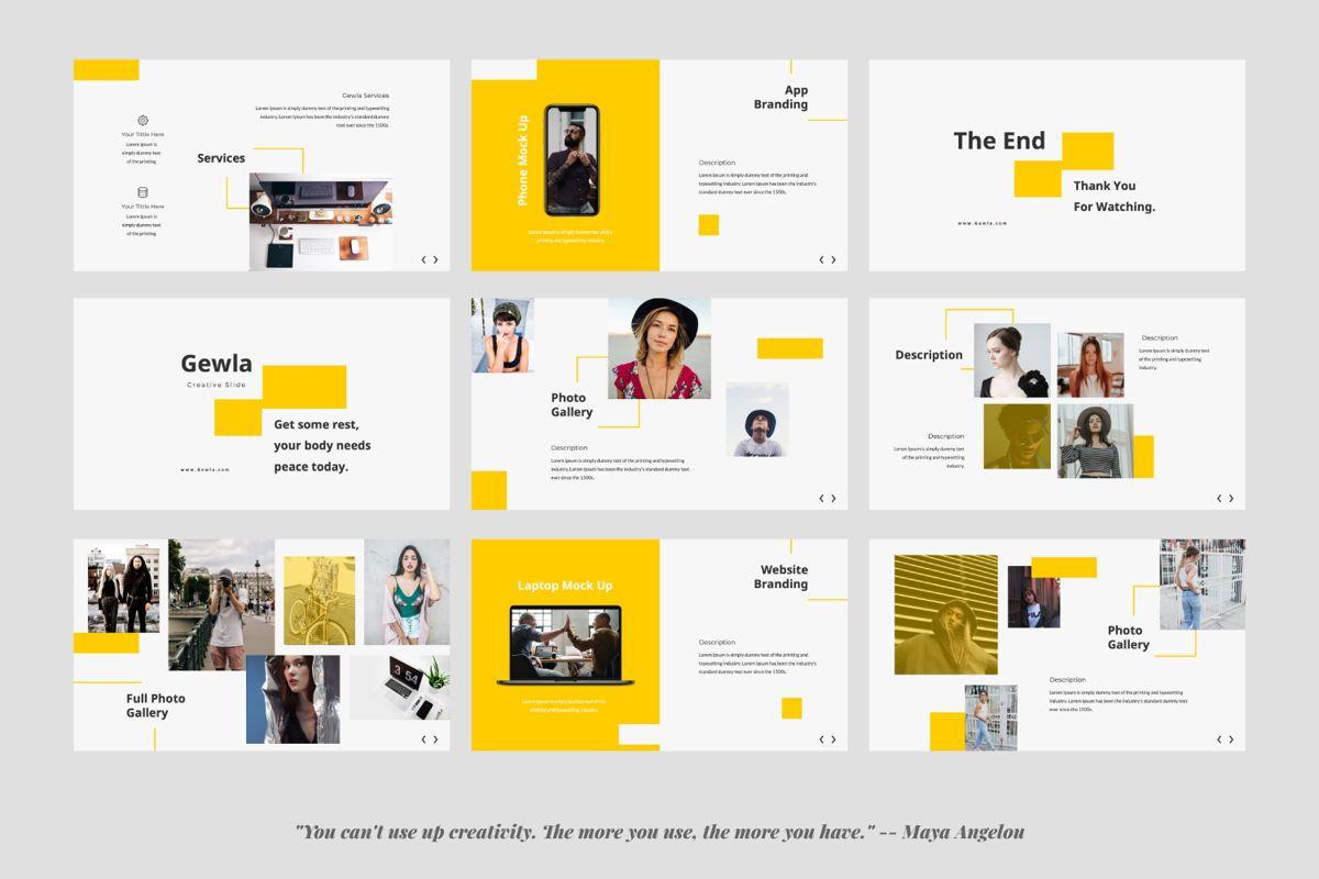 Gewla Creative Google Slide, Slide 4, 05992, Presentation Templates — PoweredTemplate.com
