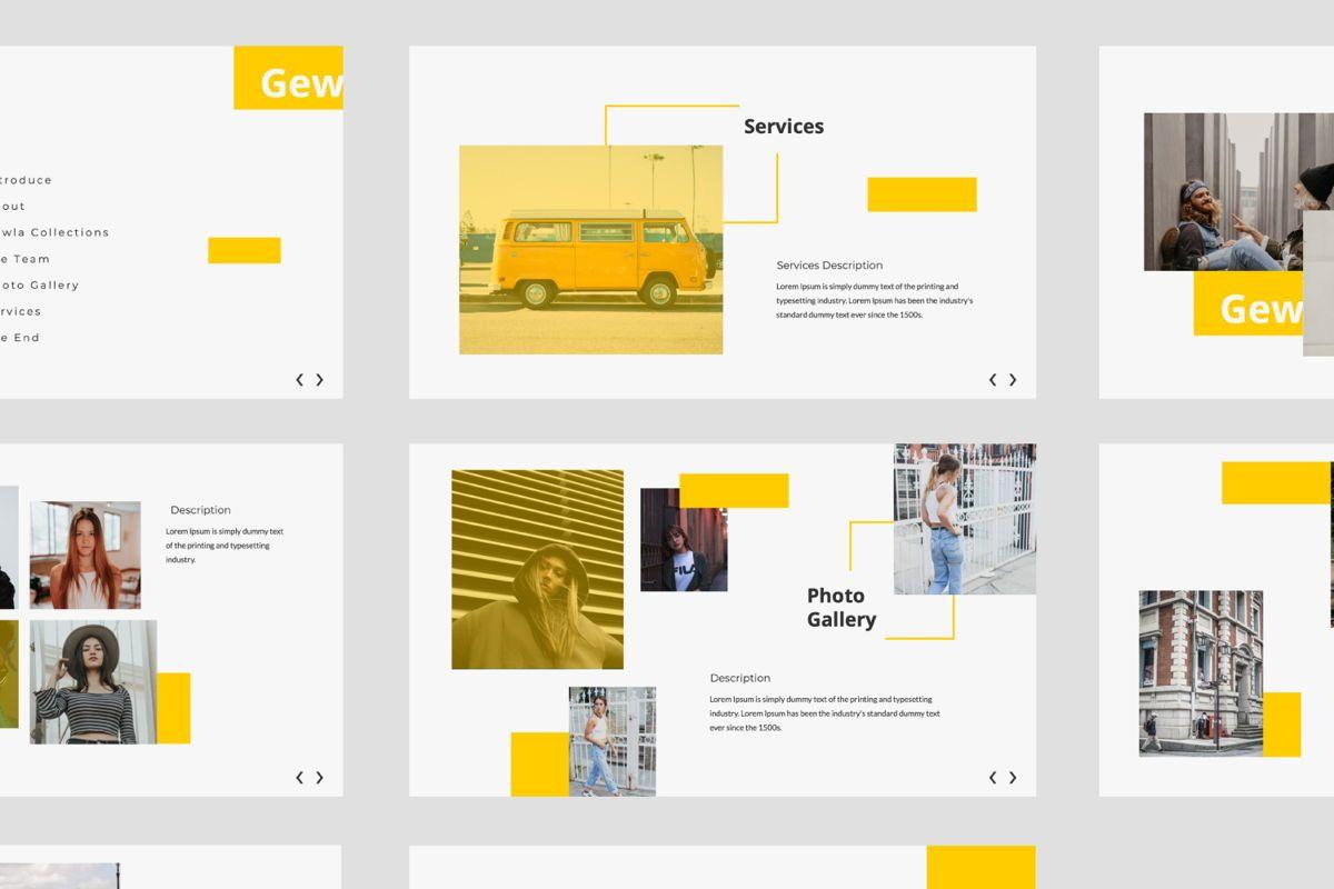 Gewla Creative Google Slide, Slide 5, 05992, Presentation Templates — PoweredTemplate.com