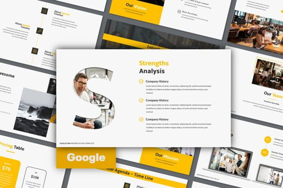 Presentation Templates: Avolution Creative Google Slide #05994