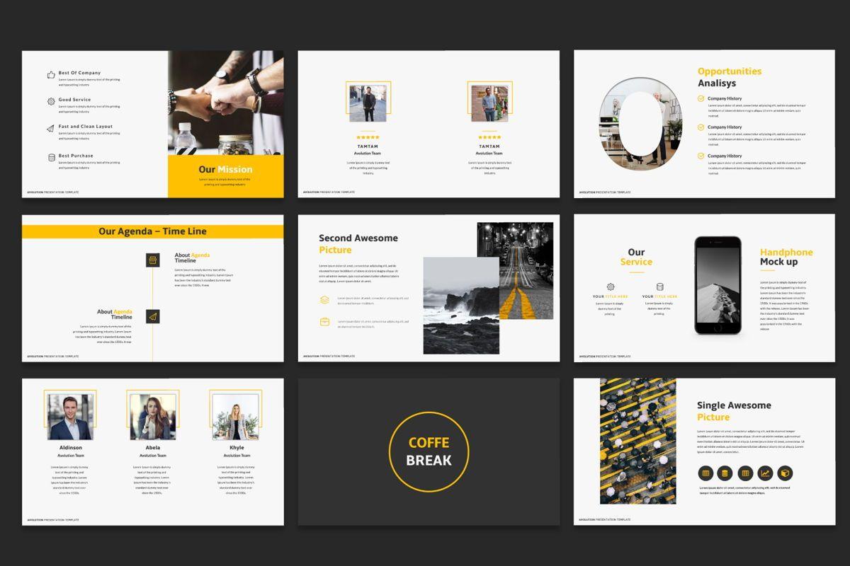 Avolution Creative Google Slide, Slide 4, 05994, Presentation Templates — PoweredTemplate.com