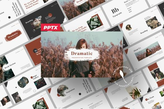 Presentation Templates: Dramatic Brand Powerpoint #05995
