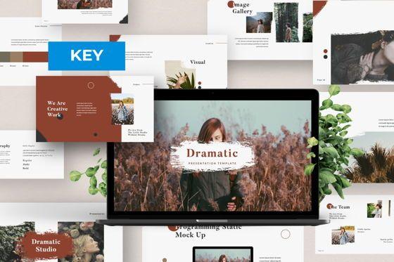 Presentation Templates: Dramatic Brand Keynote #05996