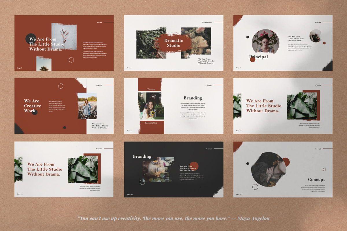 Dramatic Brand Google Slide, Slide 2, 05997, Presentation Templates — PoweredTemplate.com