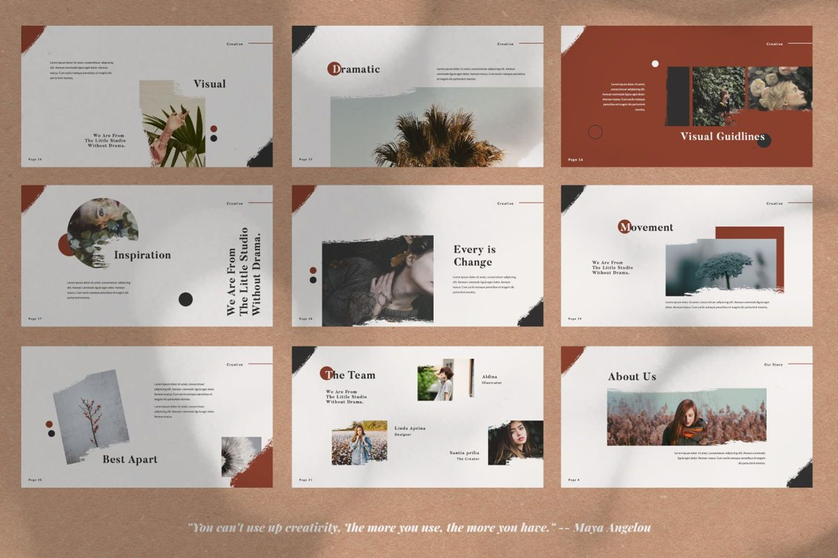 Dramatic Brand Google Slide, Slide 3, 05997, Presentation Templates — PoweredTemplate.com
