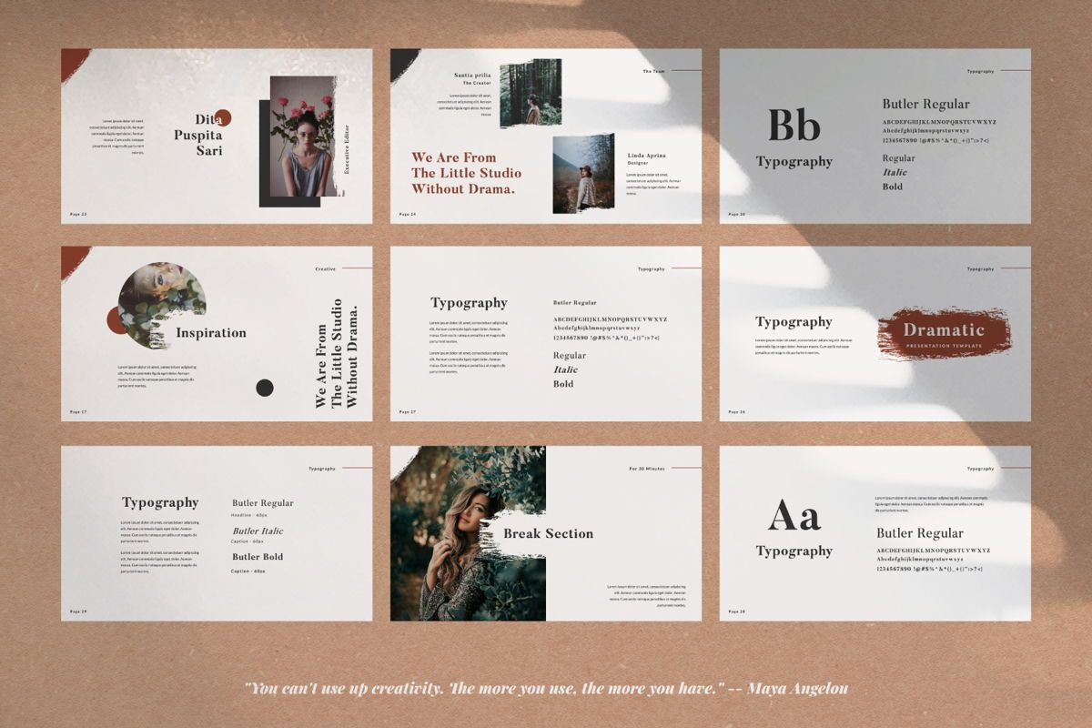 Dramatic Brand Google Slide, Slide 4, 05997, Presentation Templates — PoweredTemplate.com