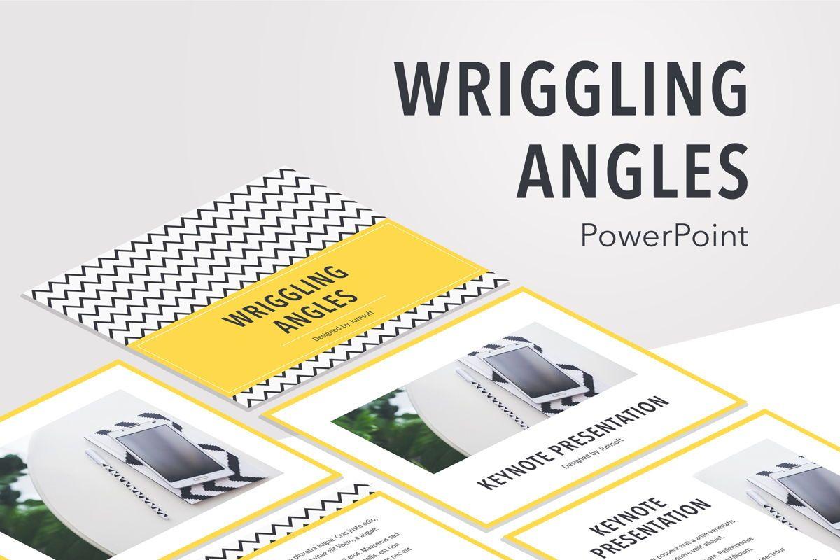 Wriggling Angles PowerPoint Template, 05999, Presentation Templates — PoweredTemplate.com